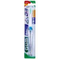 cepillo de dientes en formato viaje para usuarios de aparatos fijos suave