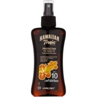 Hawaiian Tropic Protective vodeodolný ochranný suchý olej na opaľovanie SPF 10