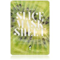 KOCOSTAR Slice Mask Sheet Kiwi озаряваща платнена маска с витамин С