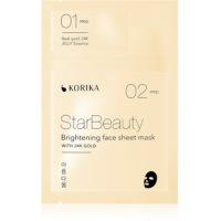 KORIKA StarBeauty Aufhellende Tuchmaske mit 24 Karat Gold