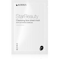 KORIKA StarBeauty čistiaca plátienková maska s aktívnym uhlím