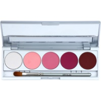 Kryolan Basic Eyes palette di ombretti 5 colori con specchietto e applicatore
