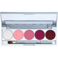 Kryolan Basic Eyes paleta de sombras de ojos 5 colores con espejo y aplicador