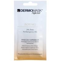 L'biotica DermoMask Night Active Lifting en Verstevigende Masker  met 24-karaats goud