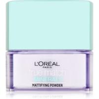 L'Oréal Paris True Match Minerals pó transparente com efeito matificante