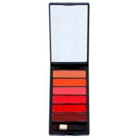 Palette mit Lippenstiften inkl. Spiegel und Pinsel