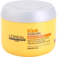 vyživujúca maska pre vlasy namáhané slnkom