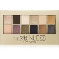 Maybelline The 24K Nudes paleta očných tieňov