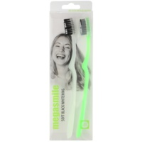 Megasmile Black Whitening Soft Toothbrush with Activated Charcoal For Sensitive Teeth