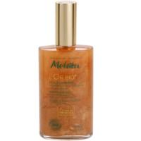 aceite seco con efecto brillo  para rostro, cuerpo y cabello