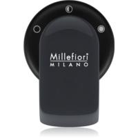 Millefiori GO držalo za dišavo za avto   s polnilom Antracite (Sandalo Bergamotto)