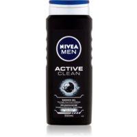 Nivea Men Active Clean gel de dus pentru față, corp și păr pentru barbati