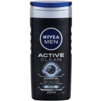 Nivea Men Active Clean Duschgel für Gesicht, Körper und Haare für Herren