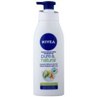 Nivea Pure & Natural výživné telové mlieko  pre veľmi suchú pokožku