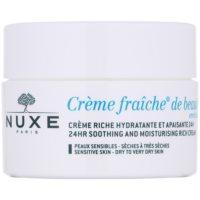 Nuxe Creme Fraîche de Beauté crema hidratante y calmante para pieles secas y muy secas