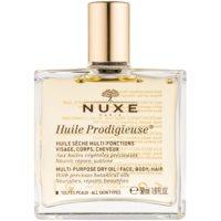 óleo seco multifuncional  para rosto, corpo e cabelo