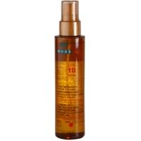 Nuxe Sun olio abbronzante per viso e corpo SPF 10