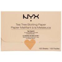 papel matificante com chá de árvore