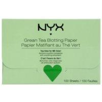 papierki matujace z zieloną herbatą
