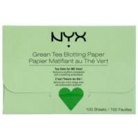 papírky na zmatnění se zeleným čajem