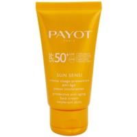 schützende Gesichtscreme für intolerante Haut gegen Alterserscheinungen SPF 50+