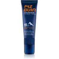 Piz Buin Mountain Schutzcreme für das Gesicht und Lippenbalsam 2in1 LSF 15