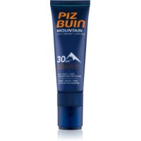 Piz Buin Mountain Schutzcreme für das Gesicht und Lippenbalsam 2in1 SPF 30