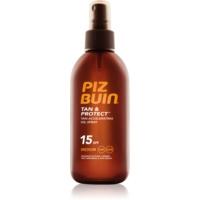 Piz Buin Tan & Protect schützendes Öl für schnellere Bräune LSF 15