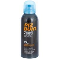 Piz Buin Protect & Cool Spumă pentru  bronzat revigorantă SPF 15