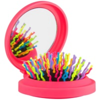 Rainbow Brush Pocket Hair Brush With Mirror