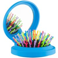 Rainbow Brush Pocket kefa na vlasy so zrkadielkom