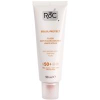 RoC Soleil Protect leichtes schützendes Fluid gegen Mitesser SPF 50+