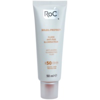 zaščitni posvetlitveni fluid proti staranju kože SPF 50