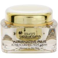 crema de noche activa nutritiva  para pieles normales y secas