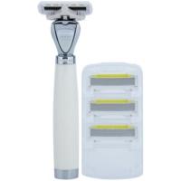 Shave-Lab Premium Aon P.L.4 máquina de barbear + refil de 3 lâminas