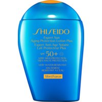 Shiseido Sun Care Expert Sun Aging Protection Lotion Plus WetForce Aging Protection Lotion Plus for Face and Body SPF 50+