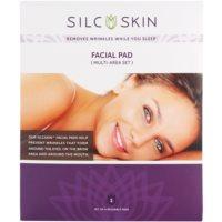 almofadinha de silicone contra rugas nas zonas de testa, olhos e boca
