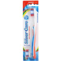 cepillo dental antibacteriano con cabezal intercambiable duro