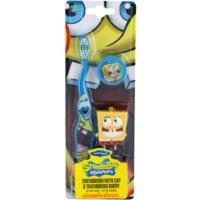 escova de dentes para crianças com tampa de viagem e porta-chaves soft