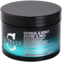 TIGI Catwalk Oatmeal & Honey intenzív tápláló maszk száraz és sérült hajra
