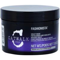 mascarilla violeta para cabello rubio y con mechas