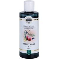 masážny olej - hrejivý relax