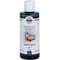 aceite relajante para masajes efecto calor