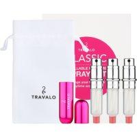 Travalo Classic HD Geschenkset II. Hot Pink nachfüllbarer Flakon mit Zerstäuber 3 x 5 ml