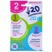 čisticí a hydratační maska pro problematickou pleť, akné