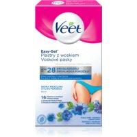 Veet Easy-Gel восъчни ленти за епилация на бикини зоната за чувствителна кожа