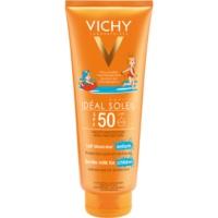 Vichy Idéal Soleil Capital leite de proteção para o rosto e corpo das crianças SPF 50