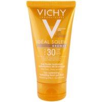 Vichy Idéal Soleil Bronze gel hidratante fluído facial para preparação natural da pele para bronzeamento SPF 30
