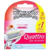 Wilkinson Sword Quattro for Women Papaya & Pearl Replacement Blades