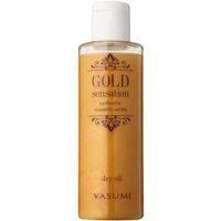 Dry Oil with Gold Particles On Face, Body And Hair